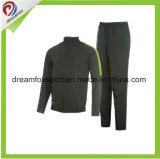 Uniforme deportivo personalizado barata mangas largas de los hombres la fabricación de chándal