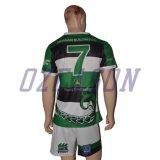 Großverkauf kundenspezifische gestreifter fester Sitz-professionelle erwachsene Rugby-Hemden (R005)