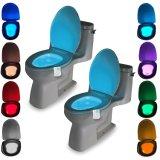 Movimiento Sunnest activa wc luz nocturna, Recipiente de LED de luz, Sensor de movimiento de la luz del asiento 8, se adaptan a cualquier cambio de color blanco, inodoro