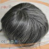 Toupee anteriore grigio dei capelli umani aa (PPG-l-01909)
