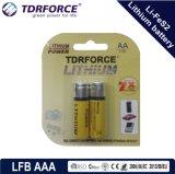 Primaire 1.5V (LFBAA) 10 Jaar Batterij Dicharge van de Houdbaarheidsperiode van de Lage Zelf Li-Fes2
