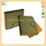 Impresión del cuaderno de la cubierta del cuero de la alta calidad con la pluma