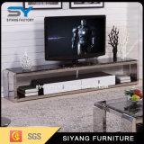 中国の家具のテレビの黒ガラスTVの立場TVのキャビネット