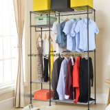 Большой размер провода для тяжелого режима работы полок регулируемая одежды Одежда для установки в стойку с двумя одежды стержней