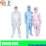 Grembiule degli indumenti ESD del locale senza polvere per usura industriale di funzionamento