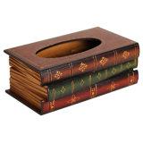 Couverture matérielle en bois robuste de serviette de cadre de tissu facial de sembler de livre