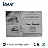 결혼식을%s 최신 판매 4.3 인치 LCD 영상 브로셔 영상 카드