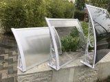 Toldo de aluminio del pabellón de la cubierta de la cubierta del patio con la hoja del sólido de la PC