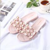 Повелительницы фасонируют Плоск-Накрененные Anti-Slip сандалии ботинок пляжа перлы