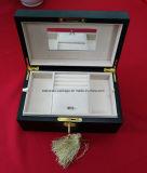 Handgemachter leistungsfähiger glatter hölzerner Schmucksache-Verpackungs-Geschenk-Kasten-Großverkauf