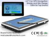 """Горячая продажа 4.3"""" погрузчик морской навигации GPS с помощью Wince 6.0 800 Мгц процессор, FM-передатчик, AV-в камеру заднего вида, ручной система навигации GPS"""