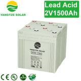 Solarbatterie-Speicher der Leitungskabel-Säure-2V 1500ah