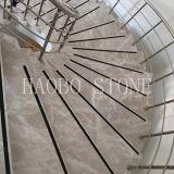 Polished внезапное серое мраморный изготовление лестниц от камня Haobo