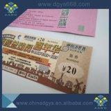 UV Pattern tridimensionnelles Ticket avec micro et le filigrane de texte