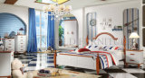 最新の寝室の家具は設計する木のベッドモデル映像(SZ-BT9907)を