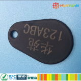 쉬운 형식 디자인을%s 가진 125MkHZ MIFARE 고전적인 1K NFC RFID KEYFOB를 전송하십시오