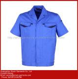 Do OEM do algodão do Workwear dos uniformes roupa 100% de trabalho com luvas curtas (W325)