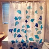 Tenda di acquazzone del poliestere del foglio del loto per la stanza da bagno
