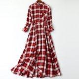 일본 Order~ 고품질 블라우스 경례군악 치마 및 숙녀의 격자 무늬 복장