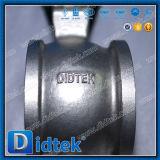 Didtek V Tipo de puerto CF8 Válvula de bola con Pneumatic