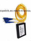 Divisore del PLC 1X2, scatola di plastica per la scissione uniforme di potere e cavi della fibra