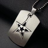 De zilveren Zeer belangrijke Markering van het Roestvrij staal van de Halsband van de Ster van de Juwelen van de Manier