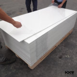 Superficie solida acrilica bianca di Corian del ghiacciaio per il comitato di parete dell'acquazzone