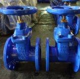 Valvola a saracinesca di gomma della sede di Reslient del ferro duttile del getto per acqua potabile