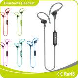 Fone de ouvido sem fio de Cotrol Bluetooth do volume de pouco peso azul do estilo do gancho da orelha