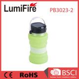 Angeschaltene faltende LED kampierende Solarlaterne des beweglichen Wasser-Flaschen-Speicher-