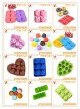 熱い販売の食品等級の台所用品のいちごのシリコーンの角氷の皿