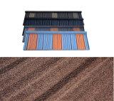 Feuille de toiture en pierre de haute qualité en acier recouvert de tuiles en bois