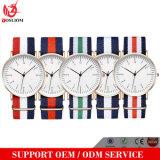 Relógios de pulso dos homens italianos da forma do relógio da bandeira Yxl-516 para o pulso de disparo de quartzo ocasional dos machos de nylon luxuosos da faixa de relógio da cinta da OTAN do tipo