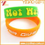 Wristband/braccialetto del silicone per il regalo di promozione (YB-SM-07)