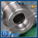 Vávula de bola echada alta presión de flotación de Didtek con el actuador eléctrico