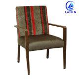 Hotel La imitación de madera Muebles de Comedor silla con cojín Tejido duradero