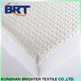 Protector/colcha impermeables del colchón de la capa del aire del hielo de las gotitas de agua con la tela hecha punto