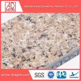 Granit Anti-Seismic ignifugé de panneaux en aluminium de placage de pierre Honeycomb pour plafonds/ soffite/ REVETEMENT DE TOIT