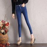 Skinny e nova moda jeans com cós especiais para senhora (HDLJ0028-17)