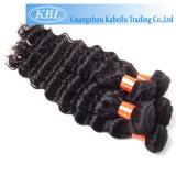 Индийский Реми человеческого волоса ослабленных волос кривой
