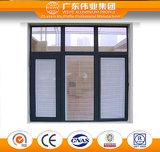 고품질 알루미늄 방음 여닫이 창 Windows
