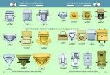 Freie Beispielmetallbeutel-sichere Schlüsselverschlüsse