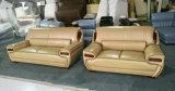 Sofá de couro italiano genuíno da grão superior, a melhor mobília Home (A838)