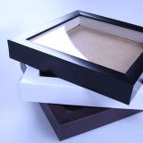 Blocco per grafici nero della foto e cornice all'ingrosso quadrata della casella di ombra del piano di sostegno 12X18 PS del MDF