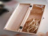 Solo rectángulo de regalo de madera de la botella de vino rojo del caso de empaquetado