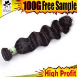 Высокое качество типа волны индийских волос свободное