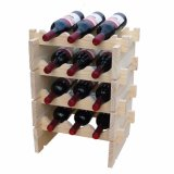 De modulaire Stapelbare Greep van het Rek van de Wijn van het Hout 3-12 Flessen van de Wijn