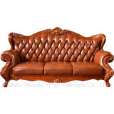 جلد أريكة مع خشبيّ طاولة خزانة لأنّ يعيش غرفة أثاث لازم