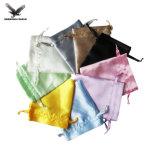 Imprimé personnalisé petit cordon Sac Organza Bijoux de velours de promotion de l'Emballage Sac Pochette Cadeau bijoux de luxe Sacs de satin
