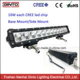 Sola fila 4X4 de la alta calidad que conduce la barra ligera 10W del LED